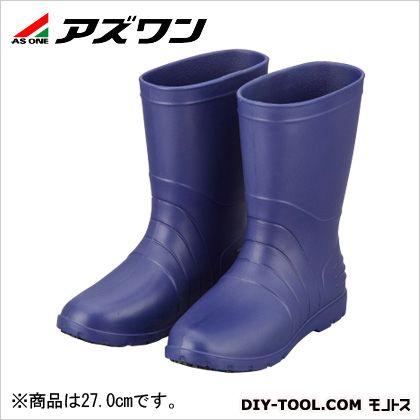 アズワン サニフィット耐油長靴 男性用 青 27.0cm 2-3811-03   耐油・耐薬品用安全靴 安全靴