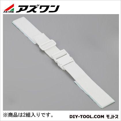 粘着式耐震ベルトバックル付ベルトB型 白 50×500~550mm 1-2796-05 2 組