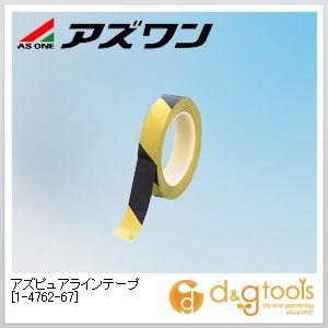 アズピュアラインテープ 5S対策用品 黄/黒 25mm×33m (1-4762-67) 1袋(10巻)