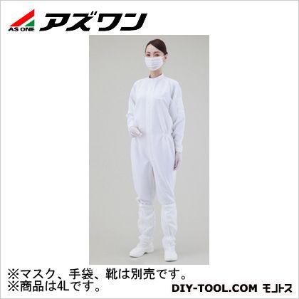 無塵衣 白 4L 1-2685-01