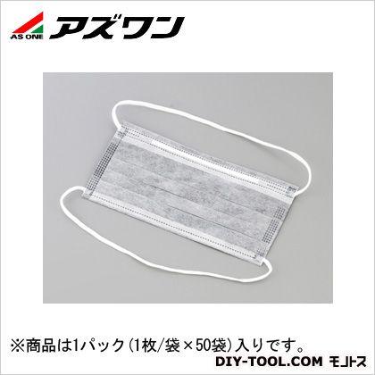 低発塵活性炭マスク オーバーヘッド   1-3449-02 1パック(1枚/袋×50袋入)