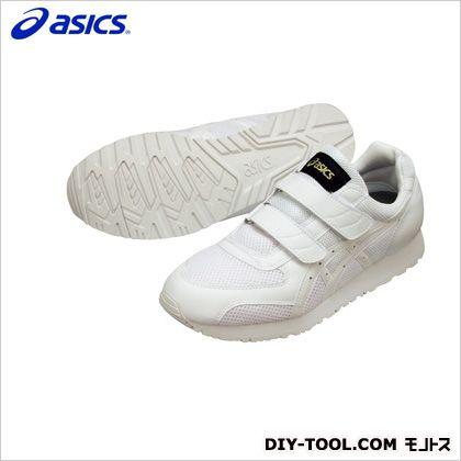 アシックス 静電気帯電防止靴 ウィンジョブ351 0101ホワイト×ホワイト 24cm (FIE351.0101 24.0) 作業靴 安全靴
