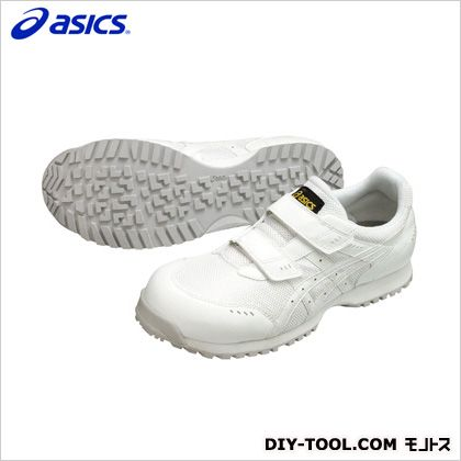 アシックス 静電気帯電防止靴 ウィンジョブE31S 0101ホワイト×ホワイト 23.5cm FIE31S.0101 23.5