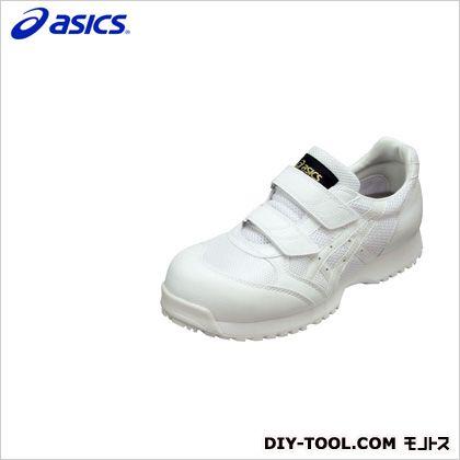 アシックス 静電気帯電防止靴 ウィンジョブE30S 0101ホワイト×ホワイト 27.5cm FIE30S.0101 27.5