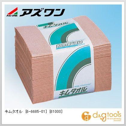 キムタオル [61000] 4つ折り 4プライ (6-6685-01) 1ケース(50枚/束×24束)