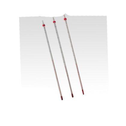 赤液棒状温度計 -20~+50℃   1-610-11