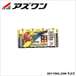 アルカリ電池 (単2) (1-6711-02) 1パック(4個入)