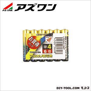 アルカリ電池 (単4)   1-6711-04 1パック(6個入)