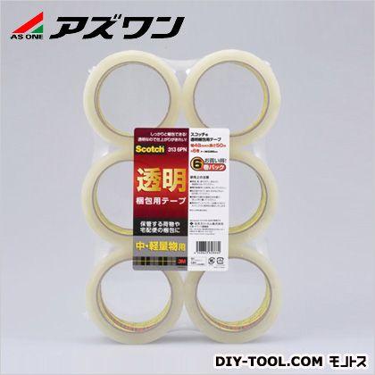 スコッチ透明梱包用テープ  48mm×0.065mm×50m 1-2859-03 1パック(6巻入)