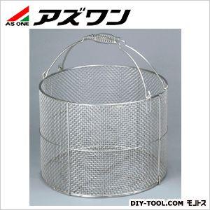 ステン丸型洗浄カゴ特大 φ400×300mm (4-097-01) 1個