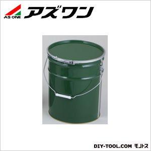 金属缶 ペール缶緑 緑 φ286×360mm20L (1-1806-06)