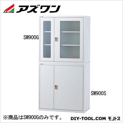 耐震薬品庫(薄型) ガラス窓付 900×450×900mm (2-7990-04)