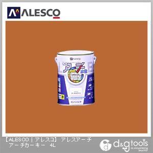 アレスアーチ 水性塗料 つやけし多用途 アーチカーキー 4L