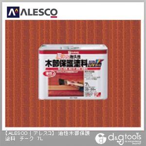 油性木部保護塗料(防虫・防腐・防カビ・防藻) チーク 7L