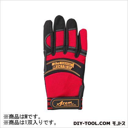 合成皮革手袋 メカニックグローブ レッド M 2093