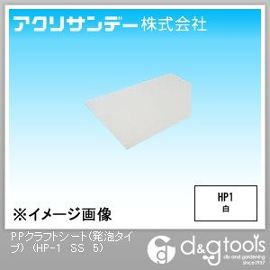 PPクラフトシート(発泡タイプ)(ポリプロピレン) 白 200×300 5ミリ (HP-1 SS 5)