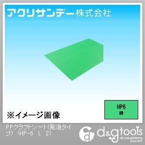アクリサンデー PPクラフトシート(発泡タイプ) 緑 450×900×2(mm) HP-6 L 2