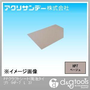 アクリサンデー PPクラフトシート(発泡タイプ) ベージュ 450×900×3(mm) HP-7 L 3