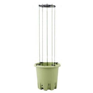 楽々菜園 丸型プランター(植木鉢)(※支柱は付いていません) サラダグリーン 15L (380 支柱用フレーム付)