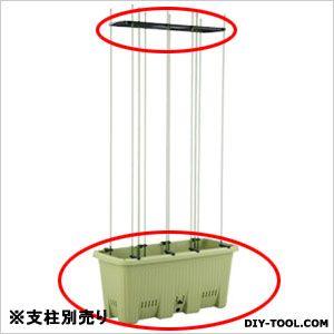 楽々菜園 深型プランター(植木鉢)40L(※支柱は別売) サラダグリーン  750 支柱用フレーム付