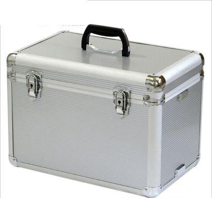 アルミキャリーボックス シルバー 外寸:435×295×340mm 内寸:415×250×290(240+50)mm ALC-BOX  個