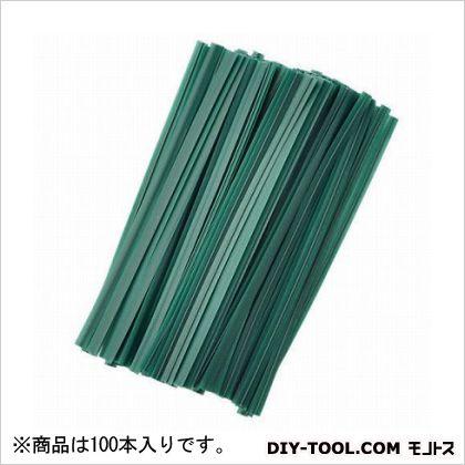 G ビニタイ 緑 10cm  100 本