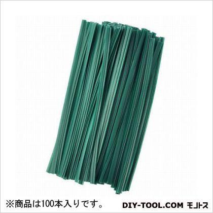 G ビニタイ 緑 12cm  100 本