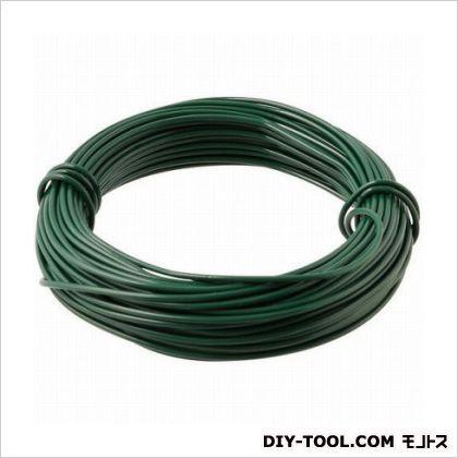 GREENCROSS コーティングワイヤー 緑 長さ:15m