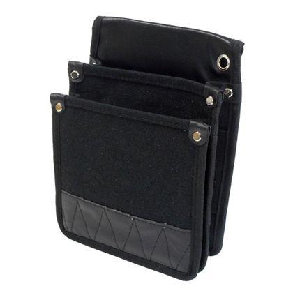 帆布電工袋 内ポケット付 黒 (WM-C11)