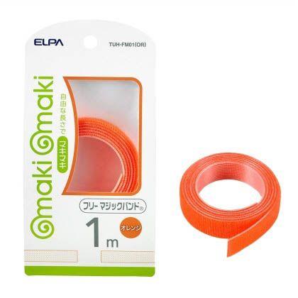 フリーマジックバンド オレンジ 全長:1m幅:15mm TUH-FM01(OR) 1 m