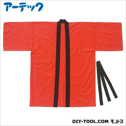 カラー布製ハッピ 大人用 L 赤 (1253)