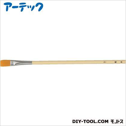 ナイロン プラ軸 デザイン筆 平筆 4号 (10739)