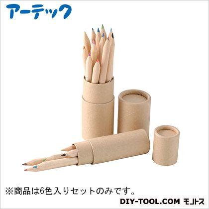 6色いろえんぴつ(紙筒ケース入) (71184)