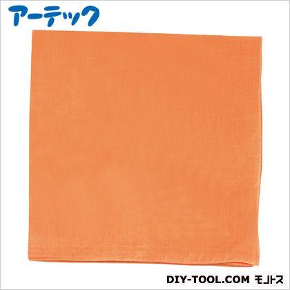 バンダナ 無地 オレンジ 約550×550mm    1619