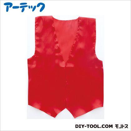 アーテック 衣装ベース サテンベスト小 赤   2137