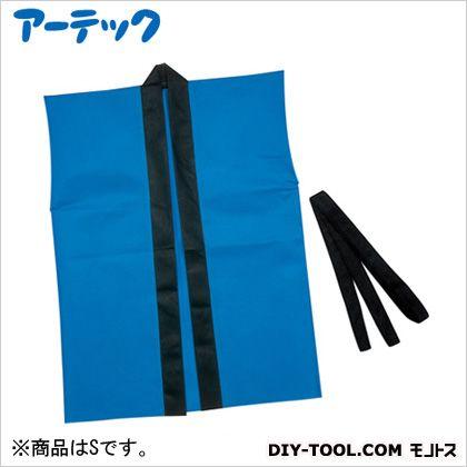 カラー不織布ハッピ袖なし子供用 青 S (4107)