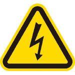 アイマーク IM 三角ラベル電気危険 50mm(一辺の長さ) 1組 AT2M   AT2M 1 組