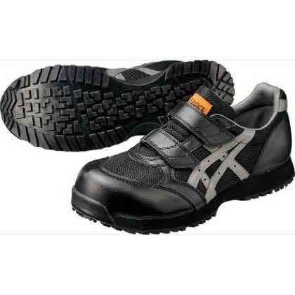 アシックス 静電気帯電防止靴 ウィンジョブE30S 9073ブラック×チャコールグレー 22.5cm FIE30S.9073 22.5