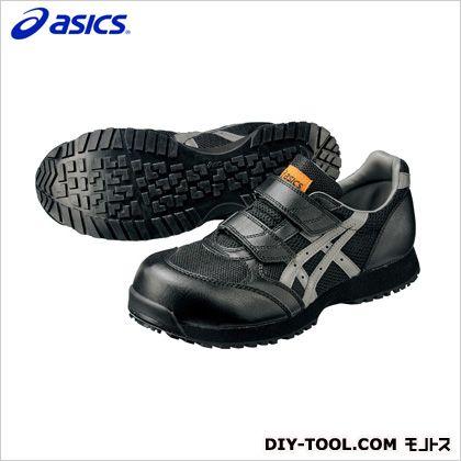 アシックス 静電気帯電防止靴 ウィンジョブE30S 9073ブラック×チャコールグレー 25.5cm FIE30S.9073 25.5