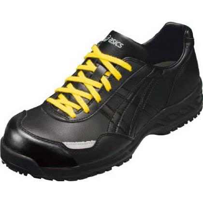 アシックス 静電気帯電防止靴 ウィンジョブE50S 9090ブラック×ブラック 22.5cm (FIE50S.9090 22.5) 作業靴 安全靴