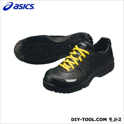 アシックス 静電気帯電防止靴 ウィンジョブE50S 9090ブラック×ブラック 24.5cm FIE50S.9090 24.5