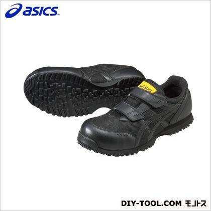 アシックス 静電気帯電防止靴 ウィンジョブE31S 9090ブラック×ブラック 25cm (FIE31S.9090 25.0) 作業靴 安全靴