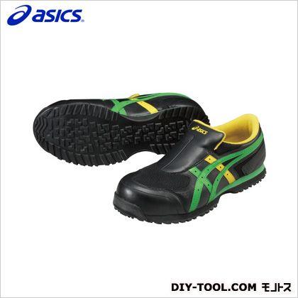 アシックス 作業用靴 ウィンジョブ36S 9084ブラック×グリーン 30cm (FIS36S.9084 30.0) 作業靴 安全靴
