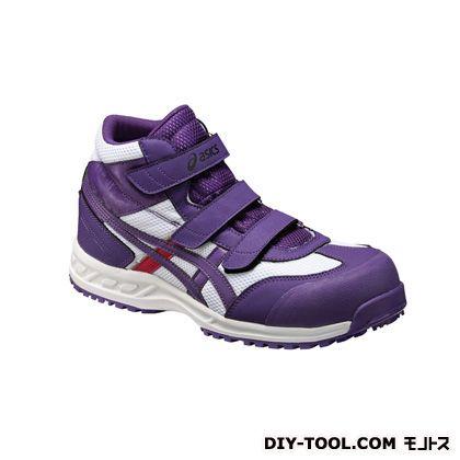 作業用靴 ウィンジョブ42S ホワイト×パープル 26.5cm FIS42S