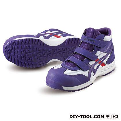 作業用靴 ウィンジョブ42S ホワイト×パープル 26.0cm FIS42S.0133 26.0