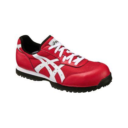 作業用靴 ウィンジョブ32L レッド×ホワイト  FIS32L.2301 27.0