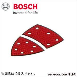 サンディングペーパー:マジック式(吸じん用穴あき) 赤:軟硬木材・金属用 フルセット #180 10枚入り   2608607410