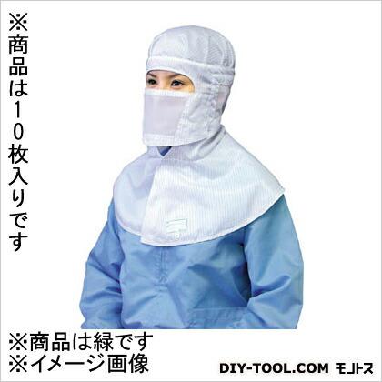 マスク-緑-フリー(10枚×1袋)   BSC30001GF