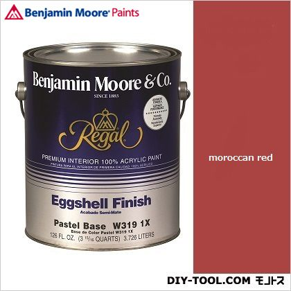 ベンジャミンムーアペイント リーガルセレクトエッグシェル 2~3分艶有り エコ水性塗料 モルカンレッド 1L Q319-1309