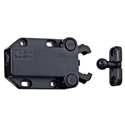 562N セイフキャッチ 黒 本体:なべ木ネジ3.1×13mm。受:なべタッピンネジ3.5×10mm 562N-8